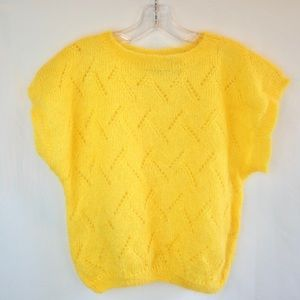 Vintage Sunshine Yellow Sweater by Jeanne Pierre